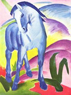 Das blaues Pferd