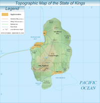Kings topographic