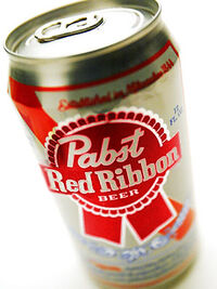 Pabst Red Ribbon Can