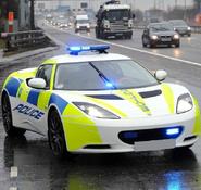 Lotus evora police car
