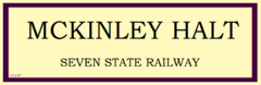McKinley Halt RS Sign