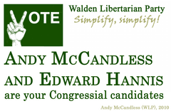 Walden Libertarian Party poster