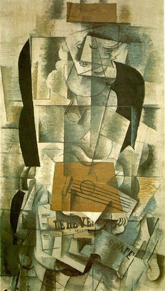 Woman with a guitare