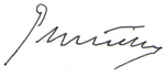 King Sebastian signature
