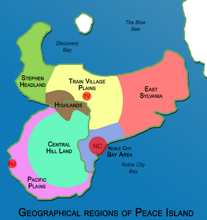 Geographical regions of Peace Island