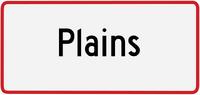 Plains sign