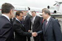 Russian officials visiting Novosevensk