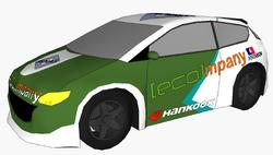 Pinas Pacifica race car