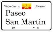 Placa del Paseo San Martin