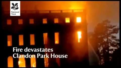 Clandon Park House devastated by fire