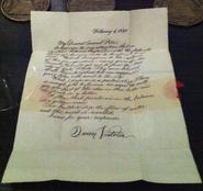 Queen Victoria Letter Prop