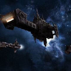 A Signarian Patrol Group wandering in space.