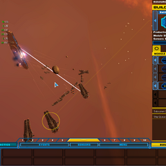 A second pirate mothership being elimiated by BG2.