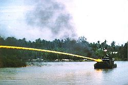 250px-US riverboat using napalm in Vietnam