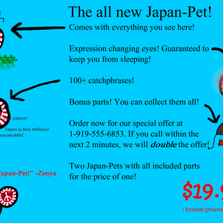 First appearance of the Japan-Pet.