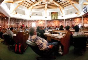 Navajo elders at a meeting.