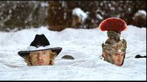 Jed and Octavius in the snow