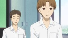 Natsume Yuujinchou Nishimura and Kitamoto being disappointed at the transfer student