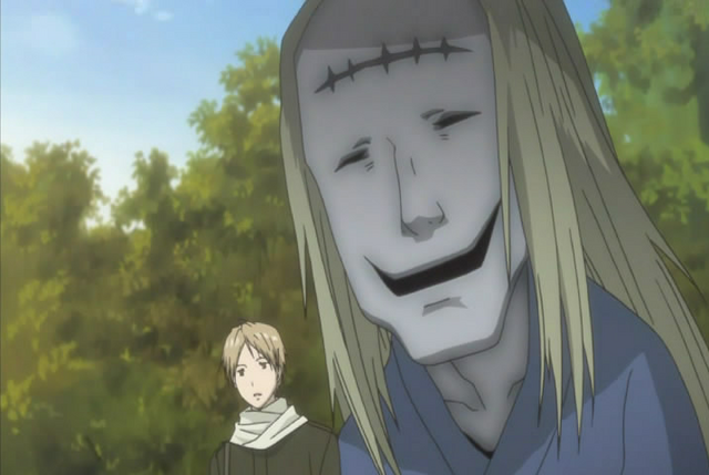 File:Natsume aware the stitch mark youkai behind him.png