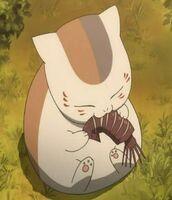 Nyanko-sensei-eats-ikayaki