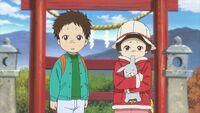 Natsume Yuujinchou - OAD children at the shrine