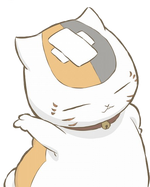 Nyanko head with bandage