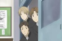 Kitamoto,nishimura&natsume peeking at taki