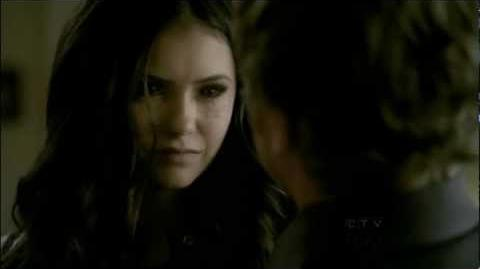 The Vampire Diaries Damon and Katherine Kiss, 1