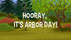 Hooray It's Arbor Day title card