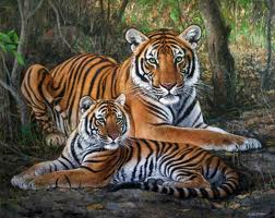 File:Tigress and her cub.jpg