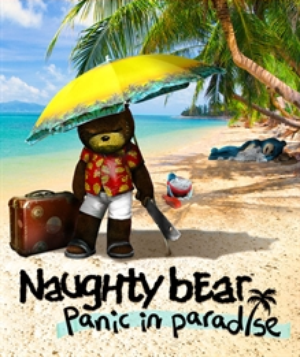 Naughty Bear: Panic in Paradise is a downloadable game released in Fall  2012 for PlayStation Network and Xbox Live Arcade.
