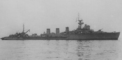 Japanese cruiser Kitakami 1945