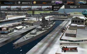 French Battleship Stratsbourg