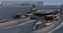 Super double hulled landing craft Dual Crater (Naval Ops Commander)
