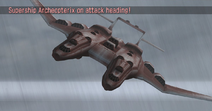 Archeopterix on attack heading (Warship Gunner)