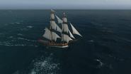 Brig Sailing Side