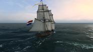 Brig Sailing Rear