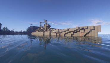 BallasticIce318 - Ship5 Battleship (With shaders at Dock) 2