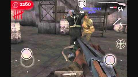 Call of Duty WaW Zombies iPhone iPod Touch Gameplay - Der Riese (Part 1)