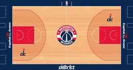 Washington Wizards court design