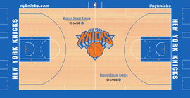 New York Knicks court design