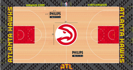 Atlanta Hawks court design