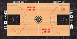 Los Angeles Clippers home court design 2019-20