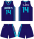 Charlotte Hornets road uniform 2014-15