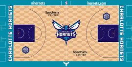 Charlotte Hornets court design