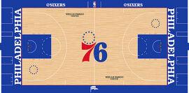 Philadelphia 76ers court design 2018