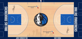 Dallas Mavericks court logo