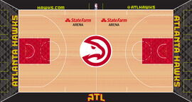 Atlanta Hawks court design