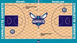 Charlotte Hornets court 2014-15
