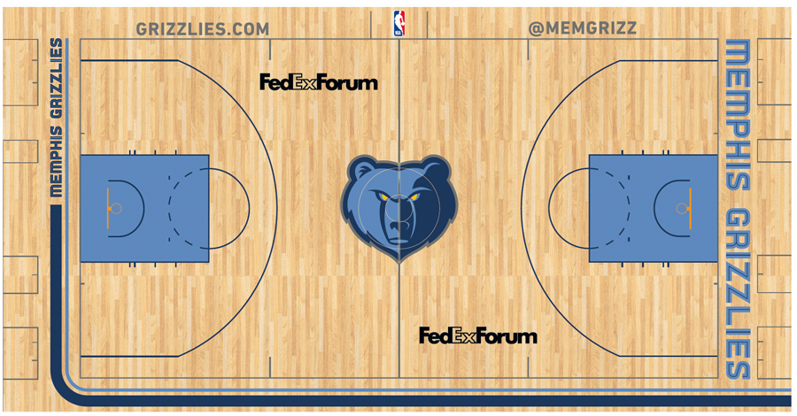 Image - Memphis Grizzlies court logo.png | Basketball Wiki ...